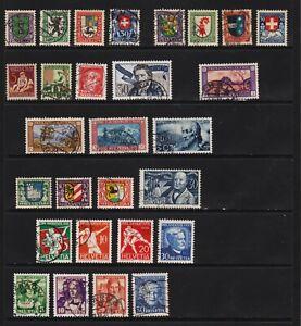Switzerland - 7 older semi-postal sets, cat. $ 117.45