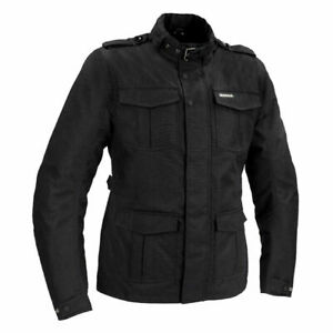 Bering Norris Black Motorcycle Motorbike Urban Waterproof Thermal Jacket 44-46""
