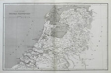 1807 Netherlands Holland Seven United Provinces Genuine Arrowsmith Antique Map