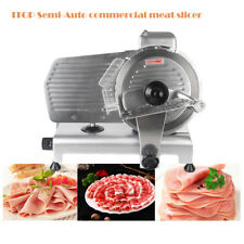 "Semi-Auto Commercial Ham Frozen Meat cheese Slicer 10""Blade  thickness adjust CE"