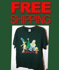 THE SIMPSONS DOH HO HO Size L Green Family CHRISTMAS MENS Short Sleeve T Shirt