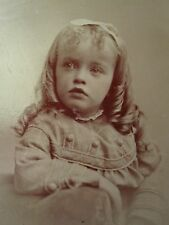 ANTIQUE VICTORIAN AMERICAN BLONDE BEAUTY GIRL BLUE EYES ARTISTIC TINTYPE PHOTO