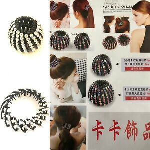 Women Bird Nest Shaped Hair Clips Expandable Ponytail Holder Claw Hairpin Bun