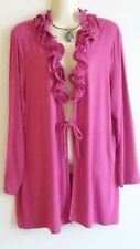 Pink Top Jacket Blouse Size 16 Capture European Tie Front Ezibuy