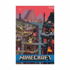 """Trends International Minecraft Cube Wall Poster 22.375"""" x 34"""" - NEW FREE SHIP"""