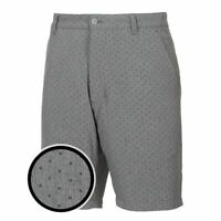 Men's FootJoy Lightweight Woven Tonal Print Gray Golf Shorts Size 38 $100