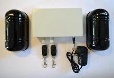 Infrarouge Allée Alarme, Yard alarme, garage/Porte Alarme Double Faisceau, contrôle à distance