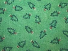 """5 Yards 12"""" Pine Tree Fabric Green Background Christmas Forest"""