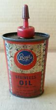 VINTAGE HANDY OILER HOUSEHOLD OIL TIN CAN BOYE NEEDLE CO SEWING MACHINE