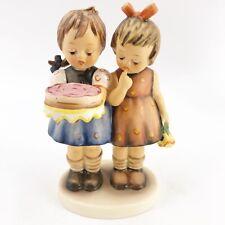 """Goebel Hummel """"Happy Birthday� #176/0 Tmk-5 The Last Bee Two Girls Exc 5.5�"""