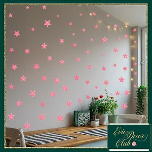Pink Star Wall Stickers Decal Child Vinyl Art Decor Spots  Baby Nursery