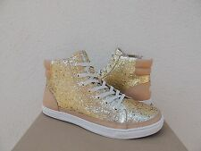 UGG GOLD GRADIE GLITTER SPARKLE LEATHER SNEAKER ANKLE BOOTS, US 11/ EUR 42 ~NIB