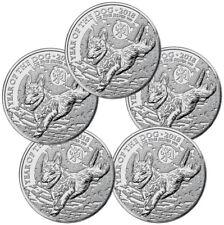 Lot of 5 - 2018 Great Britain Year of Dog 1 oz Silver Lunar £2 Coins BU SKU49815