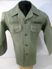 Vietnam Era US Army Sateen OG-107 Pattern 58 Utility Shirt Sz 14.5 x 32 - Early