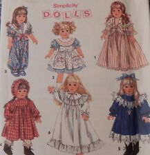 """8692 Simplicity Dress Nightgown Shoes & Boots fits 18"""" American Girl type Dolls"""