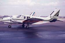 35mm Aircraft Slide - G-BASX 1973 Piper PA-34-200 Seneca (F105)