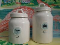 Rae Dunn Seek Discover Crab Bird Beach Kitchen Cannister Storage Collectible Set