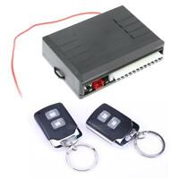 Universal Car Alarm System Central Door Lock Keyless Entry 2 Remote Controls Kit
