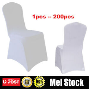 White Chair Covers Full Seat  Spandex Lycra Stretch Banquet Wedding