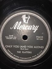 The Platters Only You / Bark Battle and Ball  Mercury 78 Rpm 1955