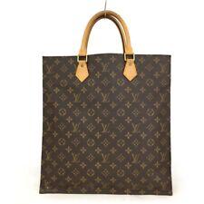 100% Authentic Louis Vuitton Monogram Sac Plat Tote Hand Bag /eEEH