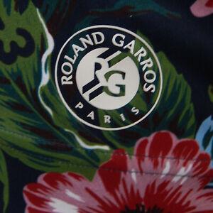 adidas Roland Carros Paris Stretch Athletic Floral Racer Top Size 8 -10 yk2
