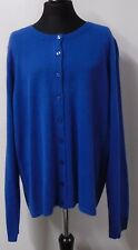 BNWT M&S Collection Ladies Cardigan Size 16 Blue (R2/A14-B)