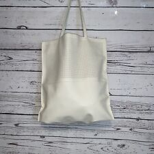 6efe38f25a Saks Fifth Avenue Estee Beach Office Tote Bag NEW White