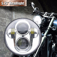 "5.75"" 45W Moto Avant Phare Projecteur LED Headlight Lamp 4000LM IP68 Pour Harley"