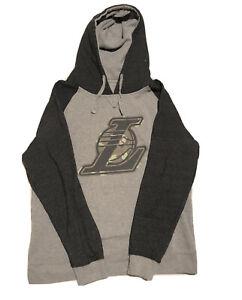 Los Angeles Lakers Hooded Sweatshirt Adult XL Men - Gray/Black - Warm - New