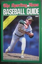 1991 The Sporting News Baseball Guide - Bob Welch Cover