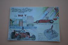AD Miniatures château Carte postal Ferrari 312 T 1975 GP F1 Monaco certificat
