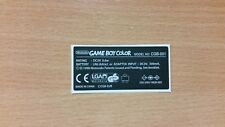 Gameboy Color Back Label Cartridge Replacement Label Sticker Precut