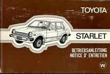 TOYOTA Starlet P6 Betriebsanleitung 1979 Bedienungsanleitung Handbuch  BA