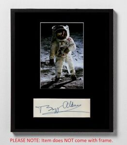 Buzz Aldrin Matted Autograph & Photo! Apollo 11 Moonwalker! 2nd Man on Moon!