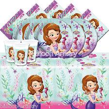 DISNEY'S Sofia perla del mare Ragazza Festa Di Compleanno Stoviglie Pack Kit per 8
