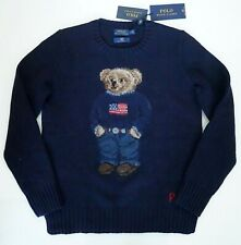 POLO RALPH LAUREN 50th ANNIVERSARY ICONIC POLO BEAR 100% Wool Knit Sweater S/P