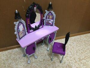 Barbie Doll Purple Grey Gray Black Raven Queen Destiny Vanity Bedroom Furniture