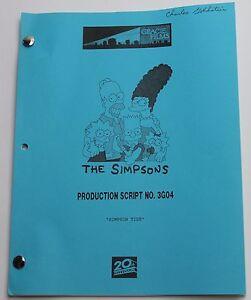 "THE SIMPSONS / 1995 TV Series Script, Season 9 Episode 19 ""Simpson Tide"""