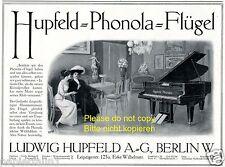 Phonola Hupfeld Klavier Reklame 1913 selbstspielendes Flügel Werbung