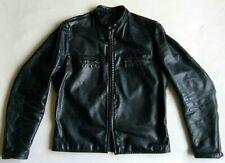 Rare vintage Brooks steerhide Leather Cafe Racer Jacket Black 1970's size 42 M