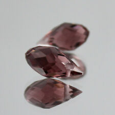 Crystal With Hole Teardrop Glass Beads New10Pcs 6X12Mm Purple Oval Faceted Czech