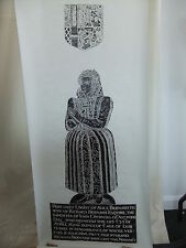 "Brass rubbing TURVEY BEDFORDSHIRE ALICE BERNARD 1606 - 56x23""  .. 92/1"
