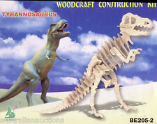 5 x ASSORTED  DINOSAURS WOOD 3D PUZZLE EDUCATIONAL &FUN 4 DINOSAUR ENTHUSIASTS