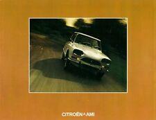 Citroen Ami 1973-76 UK Market Foldout Sales Brochure 8 Super Van