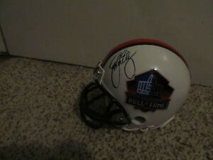 John Elway Signed Hall Of Fame Mini Helmet with proof