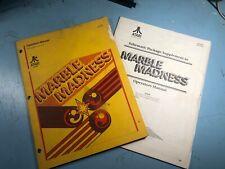 Marble Madness Video Game Operators Manual, Schematics, & Supplement, Atari 1984