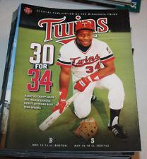 Minnesota Twins Program Magazine   May 2014   Kirby Puckett