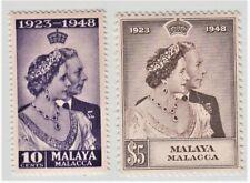 MALAYA MALACCA  1948 ROYAL SILVER WEDDING SG 1/2  MNH PERFECT