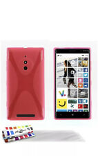 Nokia Lumia 830 Case Back Cover Pink + Screen Guard + Stylus
